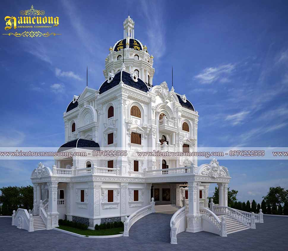 Đẳng cấp hoàng gia trong mẫu thiết kế biệt thự lâu đài tại Hải Phòng