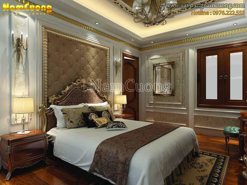 không gian sang trọng của phòng ngủ