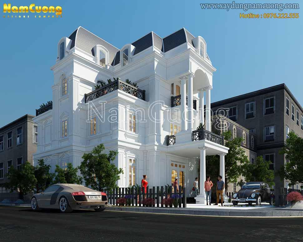 kiến trúc ngôi biệt thự 2 mặt tiền