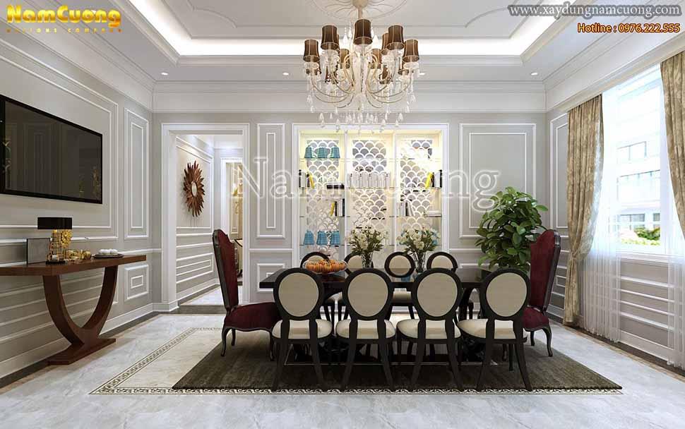 phòng ăn trong biệt thự 3 tầng