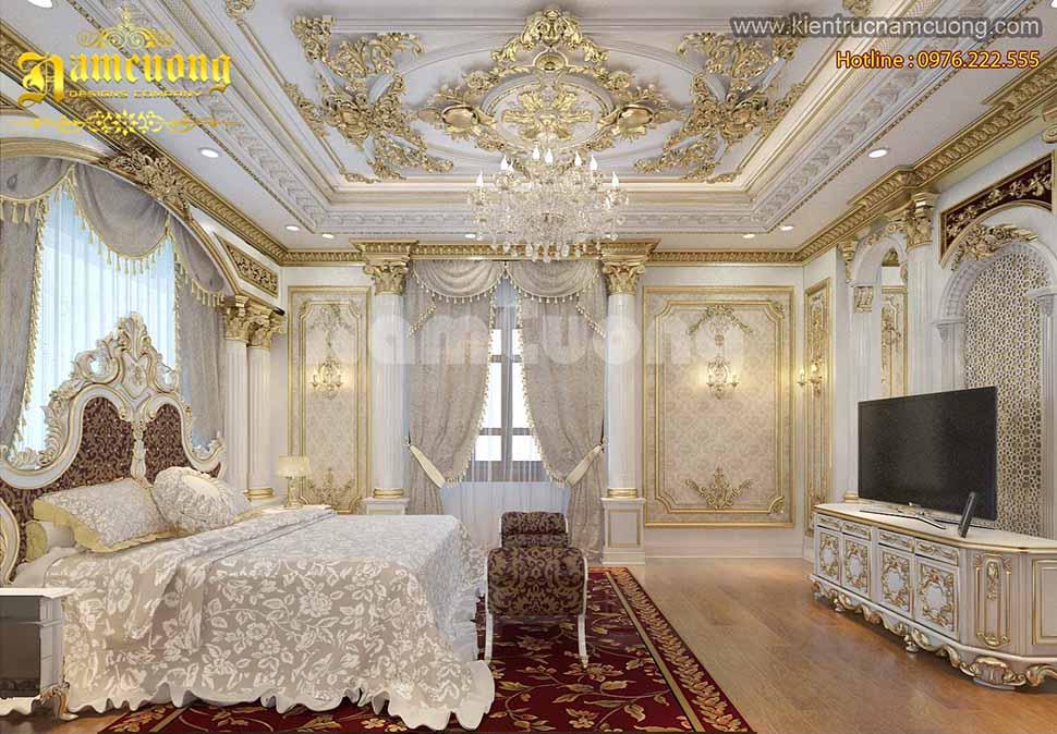 Mẫu phòng ngủ kiểu pháp ở Vĩnh Phúc