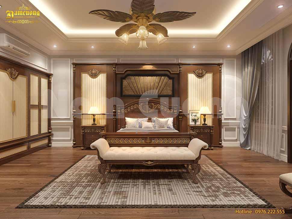 Mẫu phòng ngủ dành cho chủ đầu tư yêu thích sự đơn giản, sang trọng, đẳng cấp tại Vĩnh Phúc.