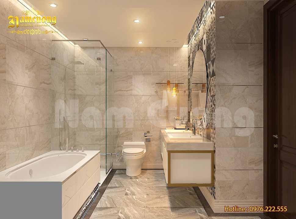 Thiết kế phòng tắm sang trọng cho biệt thự pháp ở Vĩnh Phúc