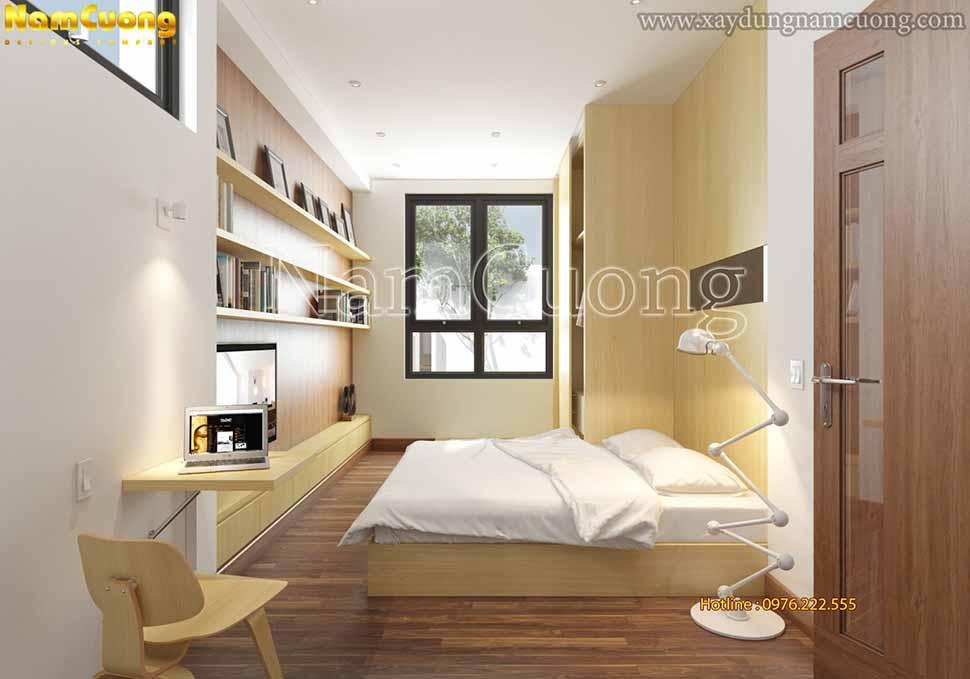 nội thất phòng ngủ gỗ màu sáng