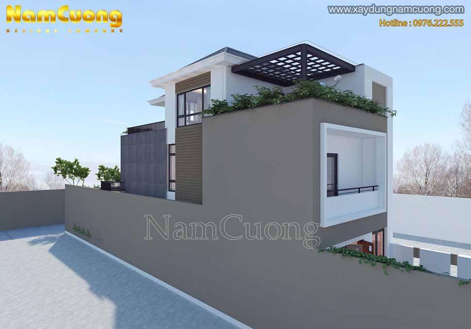 kiến trúc đơn giản của ngôi biệt thự