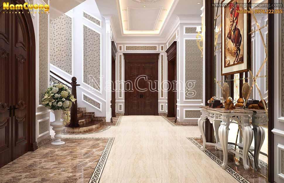 sảnh chính tầng 1 biệt thự