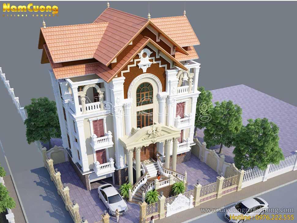 kiến trúc biệt thự pháp cổ điển