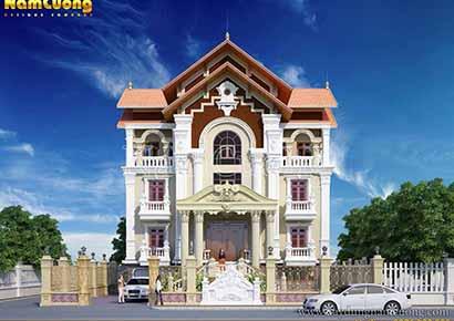 thiết kế biệt thự 3 tầng cổ điển pháp uy tín