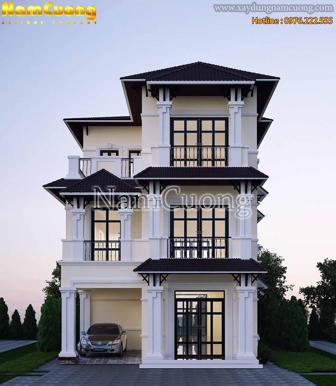vẻ đẹp ngôi biệt thự tân cổ điển 3 tầng