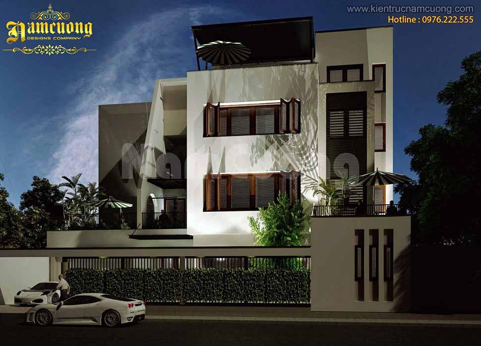 kiến trúc ngôi nhà 4 tầng