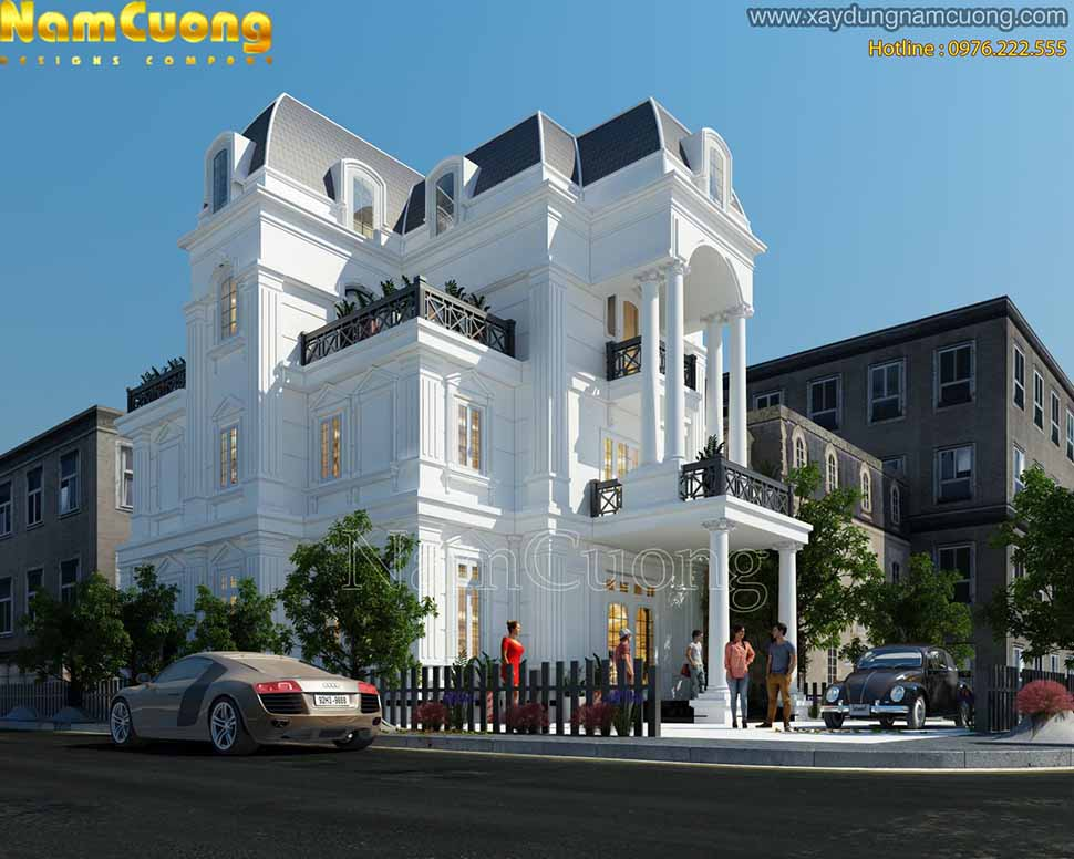 kiến trúc biệt thự tân cổ điển