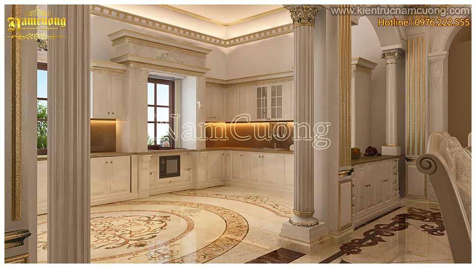 phòng bếp nhà 5 tầng mặt tiền 5m