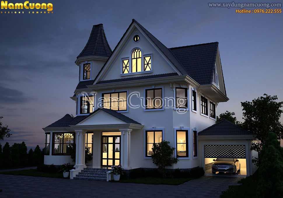 kiến trúc ấn tượng của ngôi biệt thự