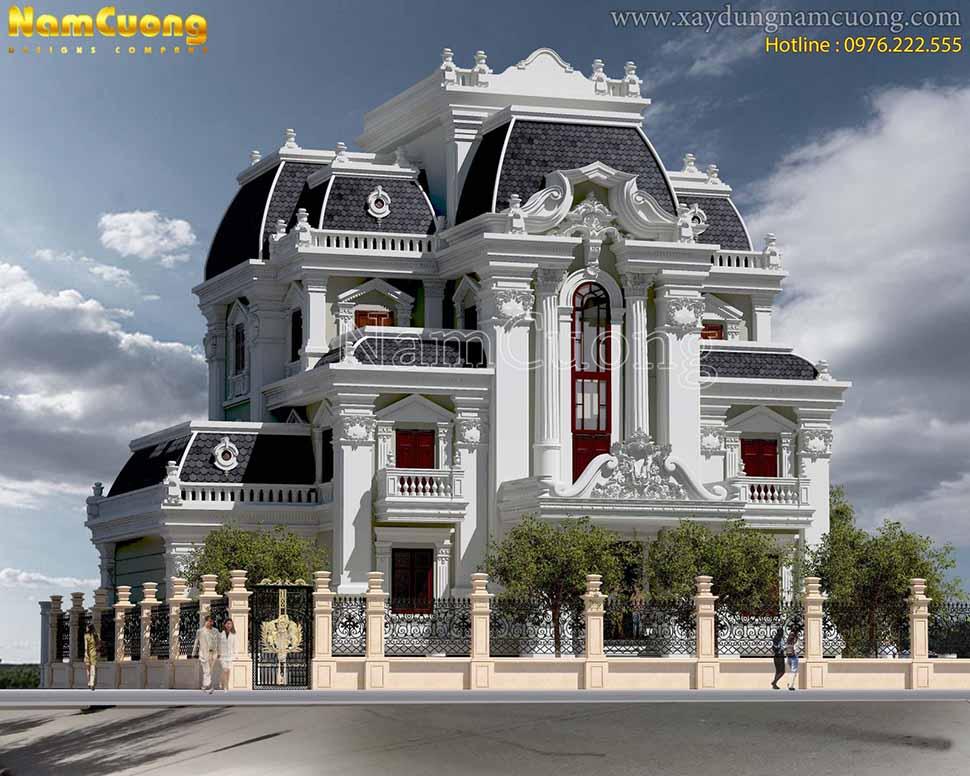 biệt thự kiến trúc lâu đài