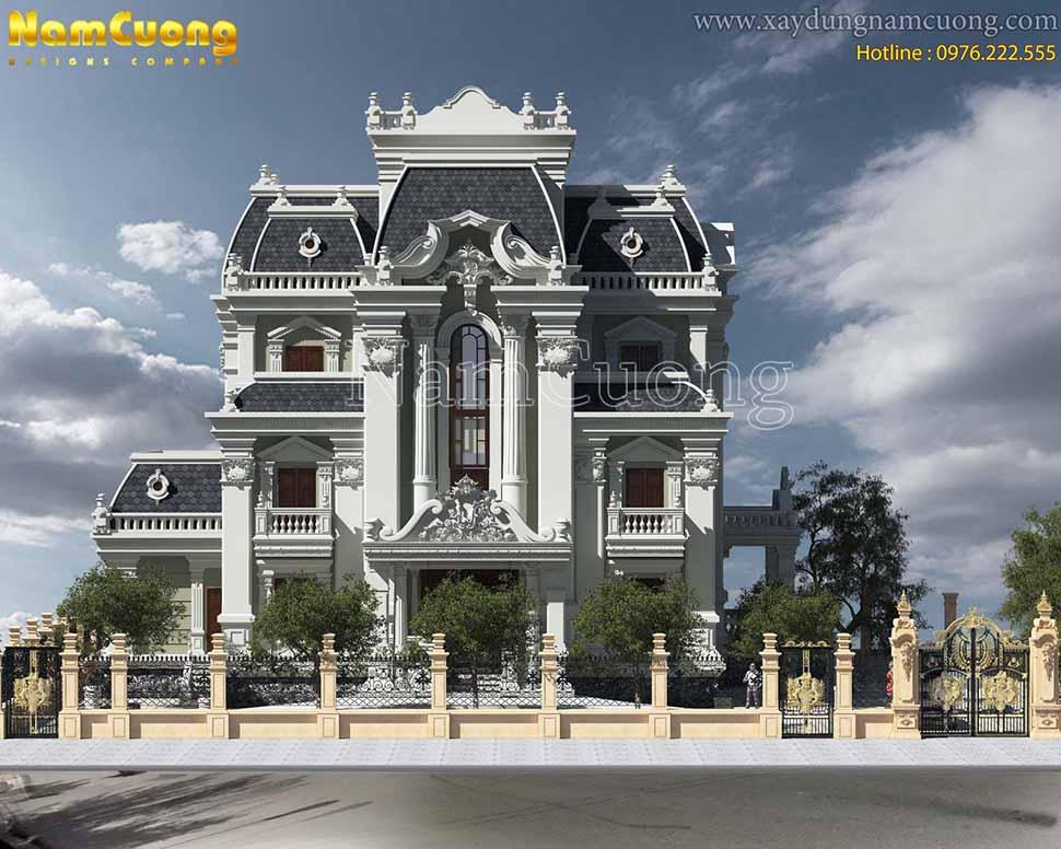 kiến trúc lâu đài Pháp cổ