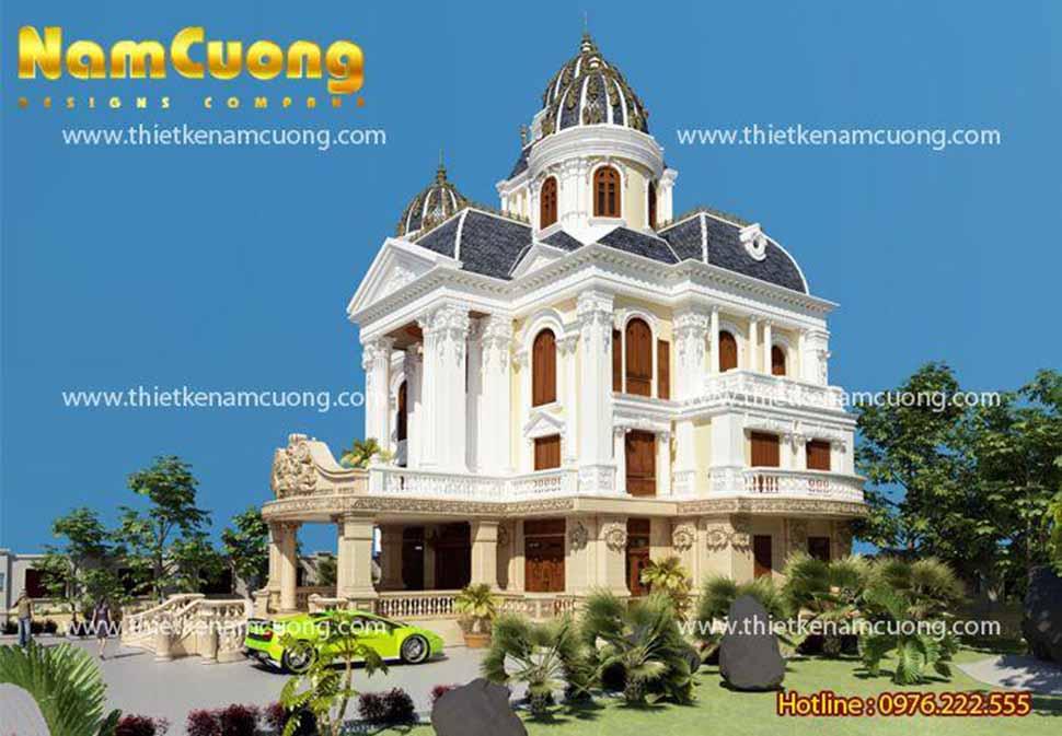 Màu trắng, vàng trang nhã đã tạo nên thương hiệu riêng cho kiến trúc lâu đài Pháp