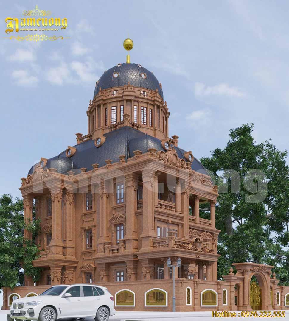 Kiến trúc biệt thự lâu đài được kiến trúc sư Nam Cường thiết kế tỉ mỉ đến từng chi tiết tại Bắc Ninh