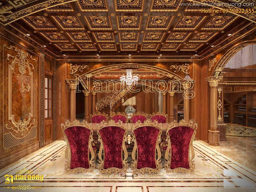 Mẫu phòng khách đẹp cho biệt thự lâu đài tại Bắc Ninh