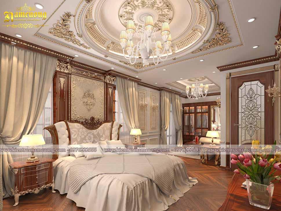 Mẫu phòng ngủ đẹp cho biệt thự lâu đài