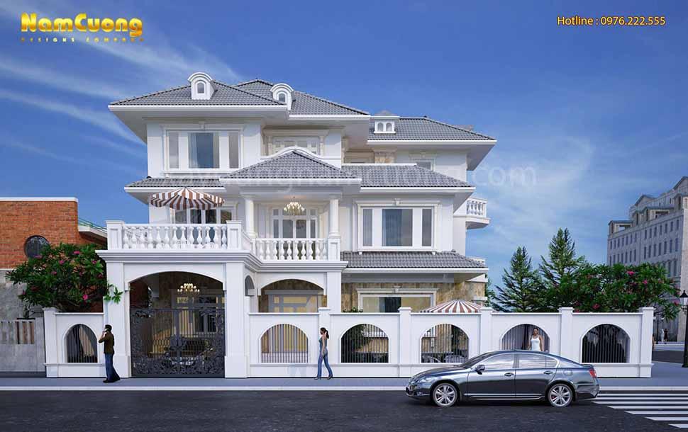 kiến trúc độc đáo của ngôi biệt thự