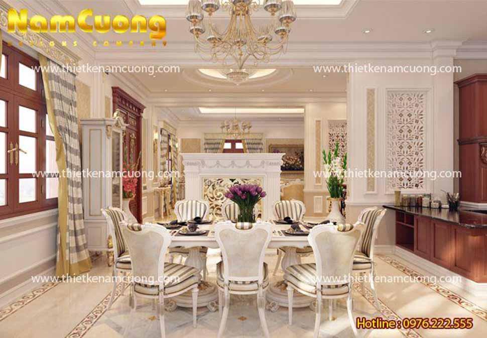 Khu phòng ăn tiện nghi trong căn biệt thự