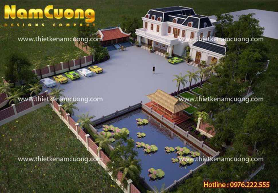 Biệt thự nhà vườn kiến trúc tân cổ điển tại Quảng Ninh