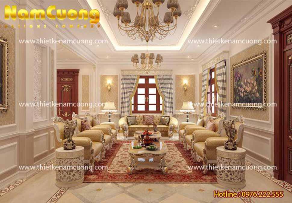 Phòng khách vô cùng lịch lãm bài trí nội thất đẹp mắt