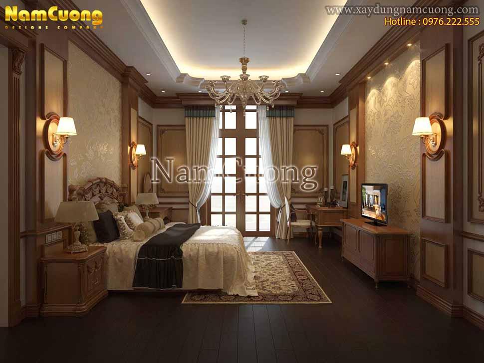 không gian phòng ngủ master