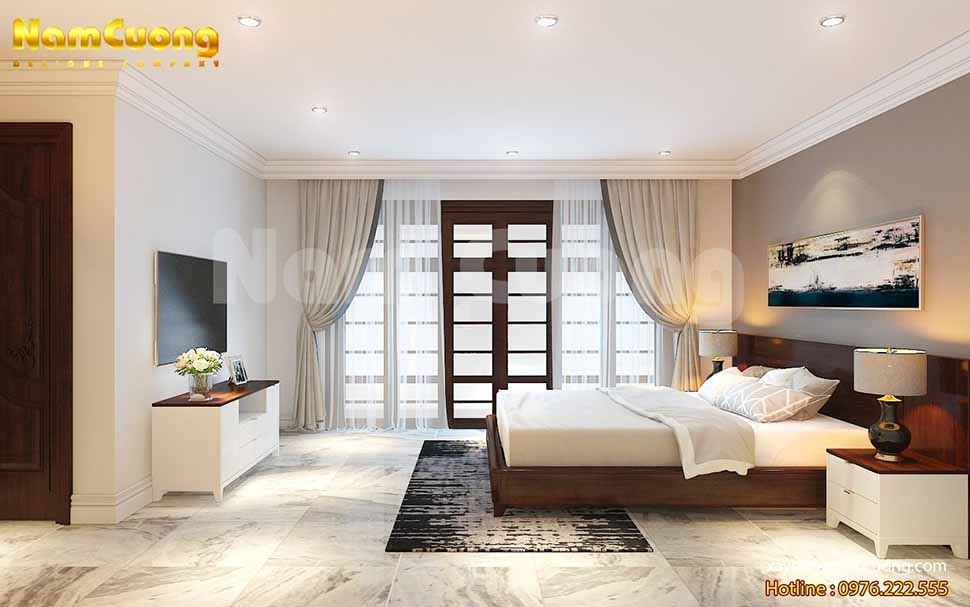 nội thất phòng ngủ của biệt thự