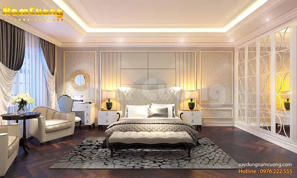 thiết kế phòng ngủ trong biệt thự
