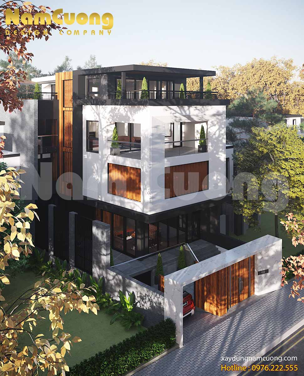 kiến trúc biệt thự hiện đại