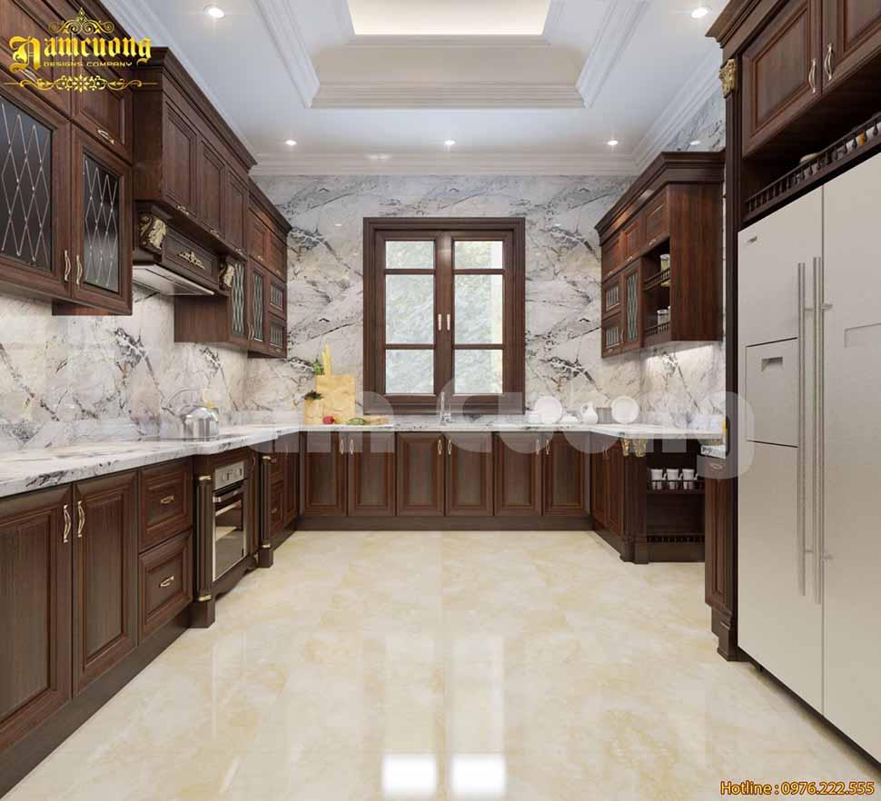 Mẫu nội thất phòng bếp tân cổ điển tại Quảng Ninh