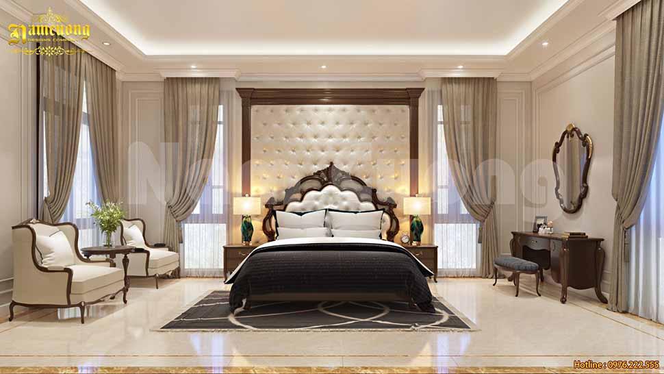 Mẫu phòng ngủ đẹp cho biệt thự tân cổ điển tại Quảng Ninh