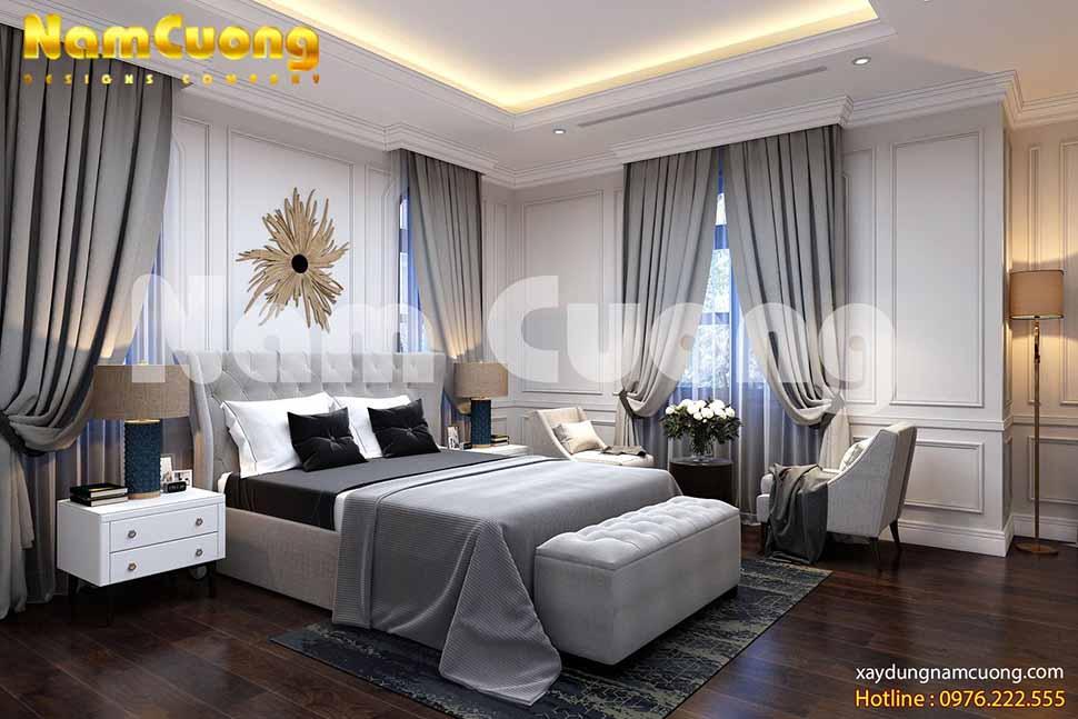 gam màu của các phòng ngủ đều được lựa chọn theo sở thích từng người trong gia đình