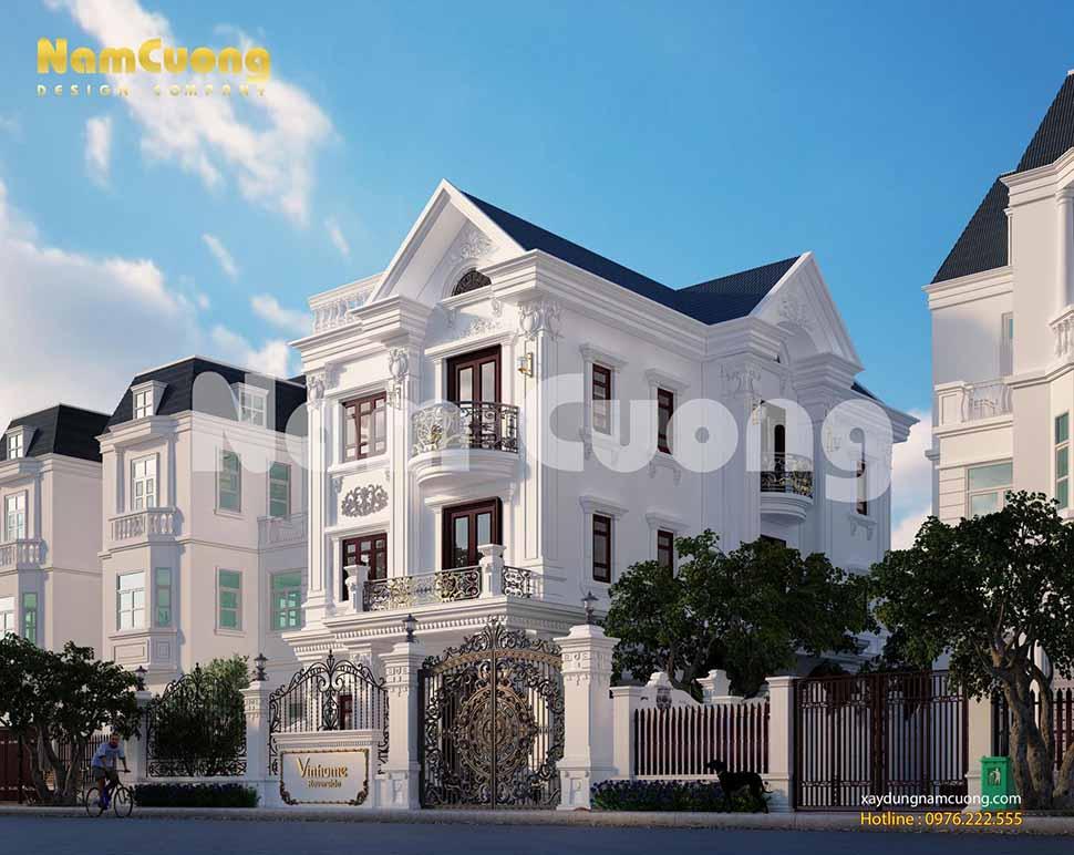 Biệt thự tân cổ điển Vinhome có ưu điểm là thiết kế 4 mặt thoáng