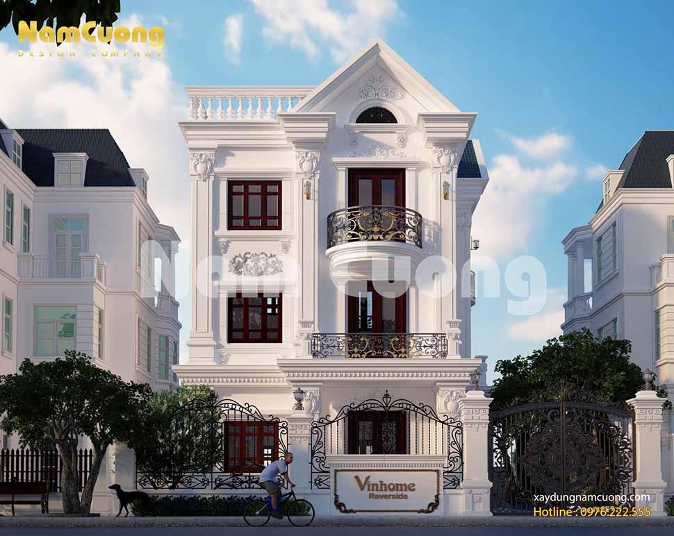 thiết kế được ngôi biệt thự tân cổ điển 3 tầng trong Vinhome theo phong cách độc đáo
