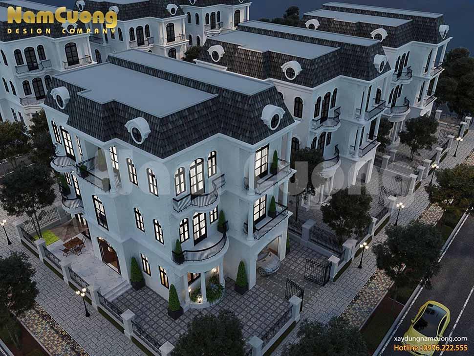 toàn cảnh ngôi biệt thự vinhomes 3 tầng