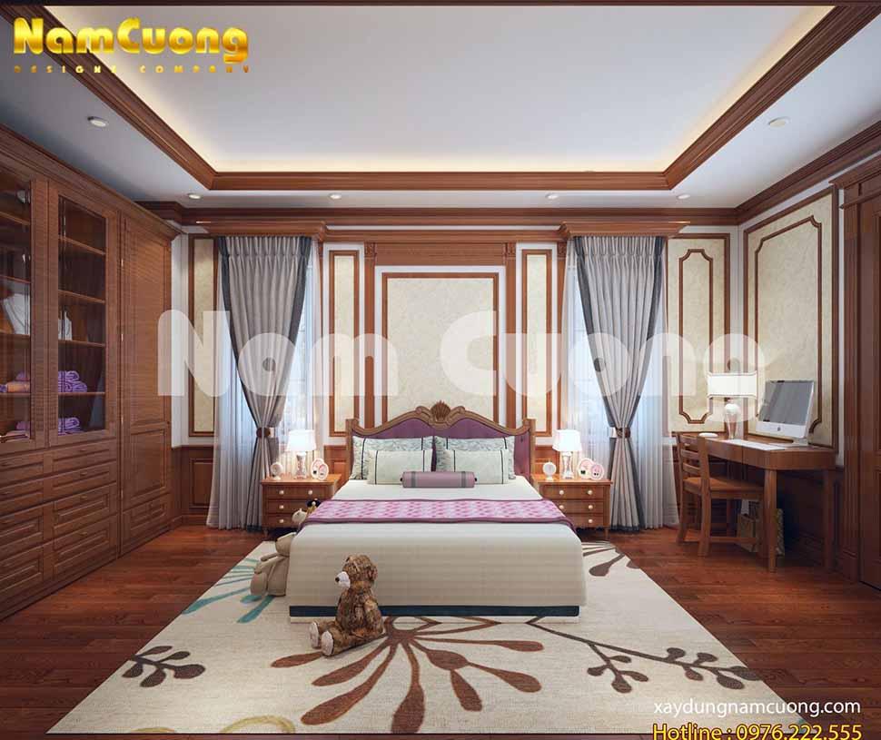 Với các không gian nội thất phòng ngủ khác nhau, KTS tập trung sử dụng các gam màu vàng sáng và màu trắng, kem tạo cảm giác ấm áp cho người sử dụng.