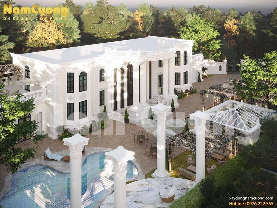 mẫu thiết kế biệt thự vườn 2000m2