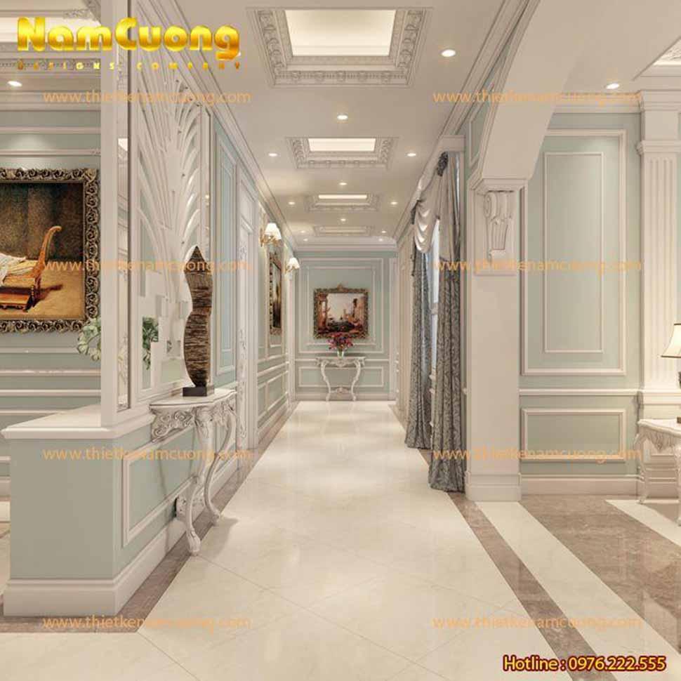 Lối đi phân chia các không gian phòng khác