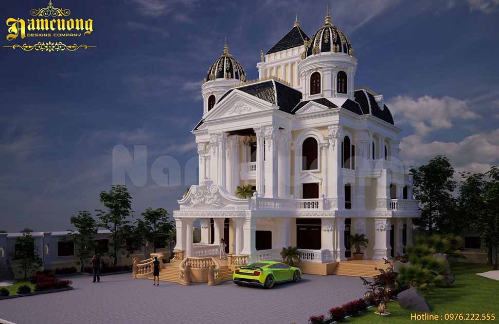 Nhà phố kiến trúc Pháp được xây dựng trọn gói ở Thái Bình