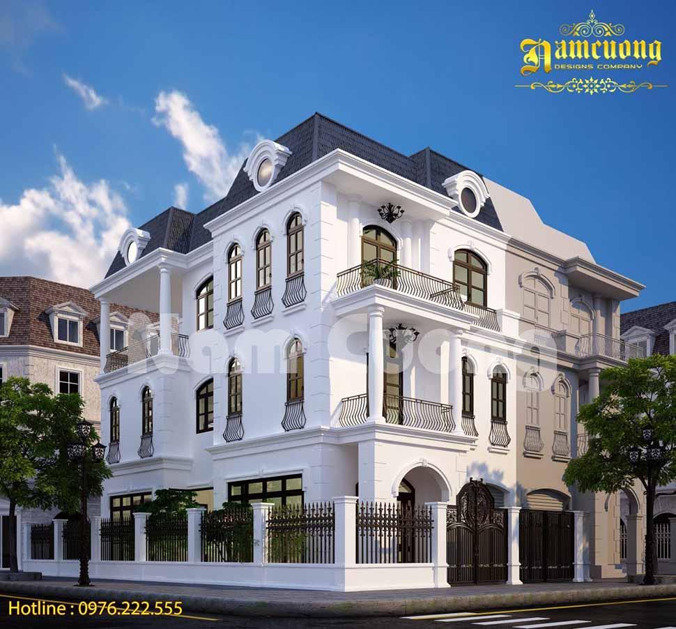Biệt thự tân cổ điển được xây trọn gói ở Thái Bình