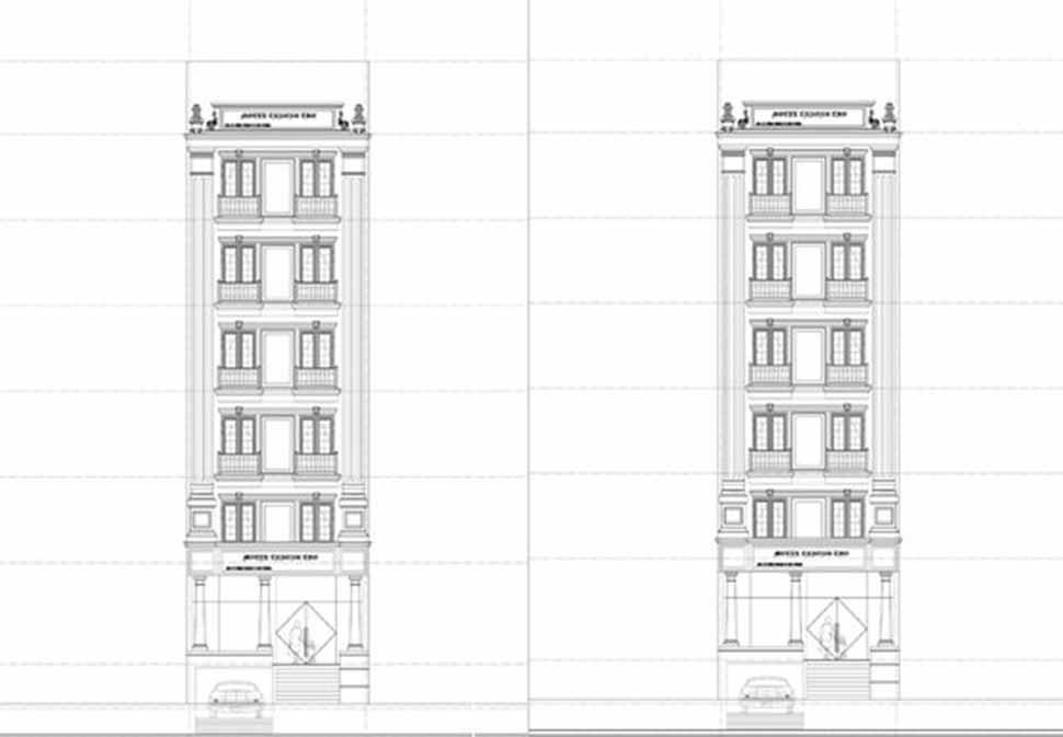 Một số bản vẽ thiết kế kiến trúc khách sạn mặt tiền 10m