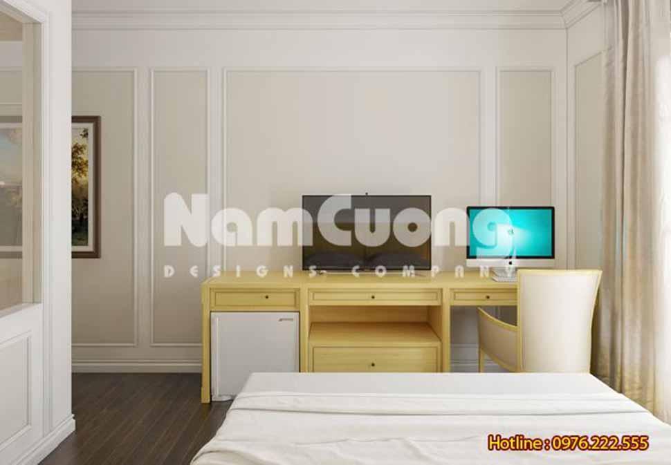 Phòng ngủ kết hợp bàn làm việc