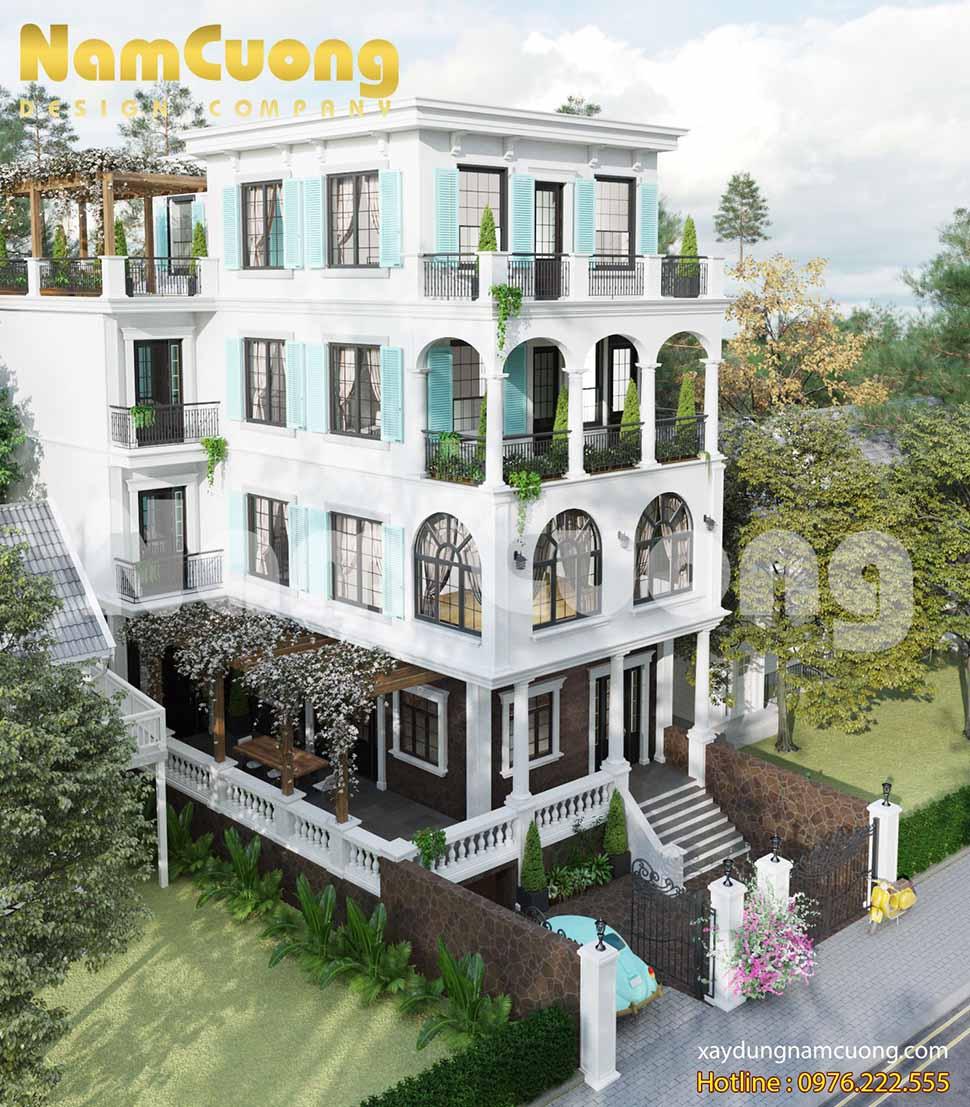 Không gian xanh được chú trọng trong thiết kế biệt thự tân cổ điển