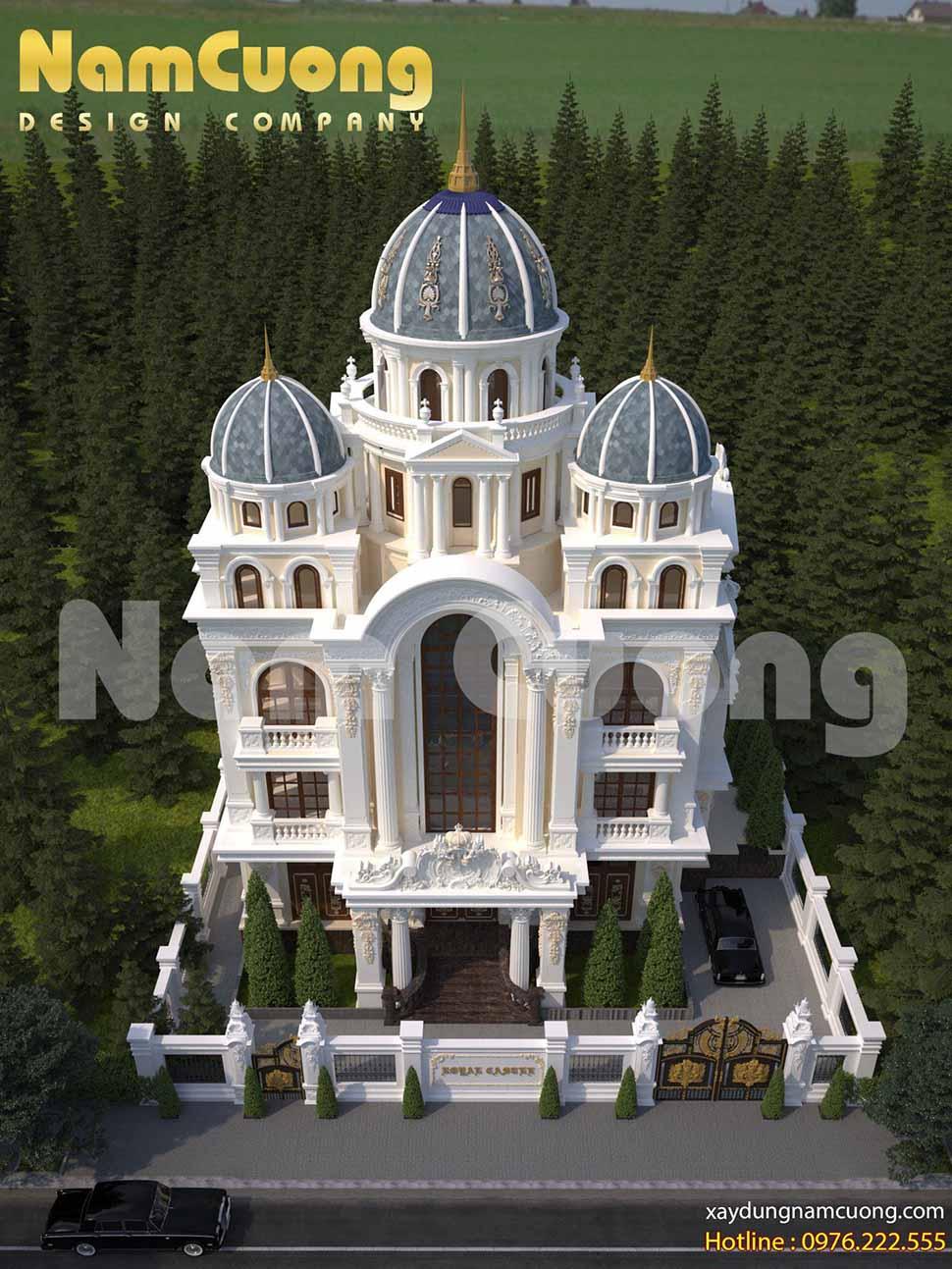 Mẫu thiết kế biệt thự lâu đài Pháp hoành tráng tại Quảng Ninh