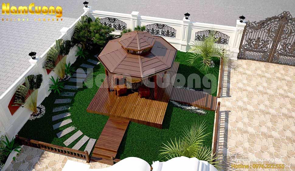 Mẫu thiết kế sân vườn biệt thự cuốn hút tại Hải Phòng