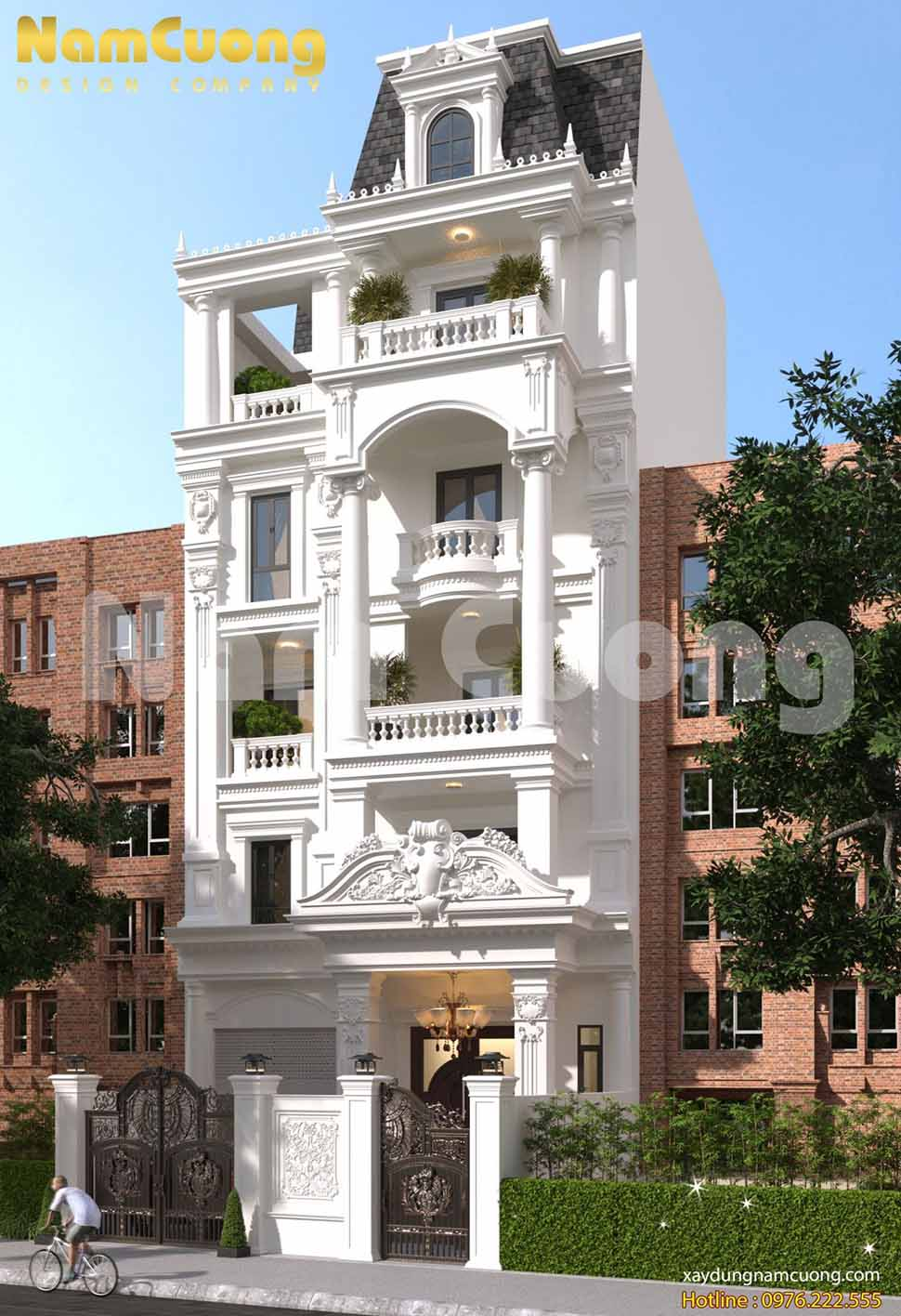 kiến trúc mẫu nhà 6 tầng đẹp
