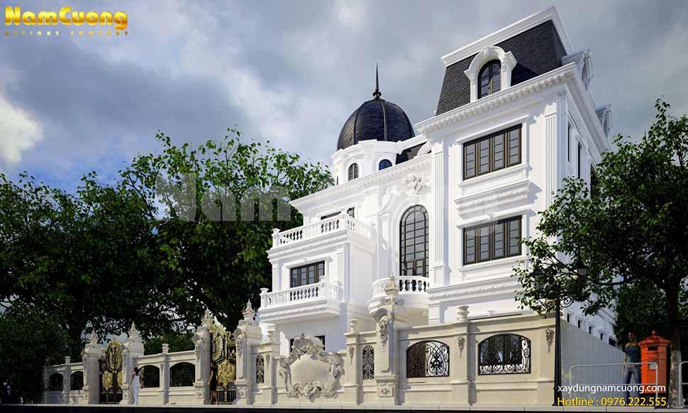 Mẫu kiến trúc mẫu nhà lâu đài đẹp lộng lẫy, nguy nga tại Thái Bình