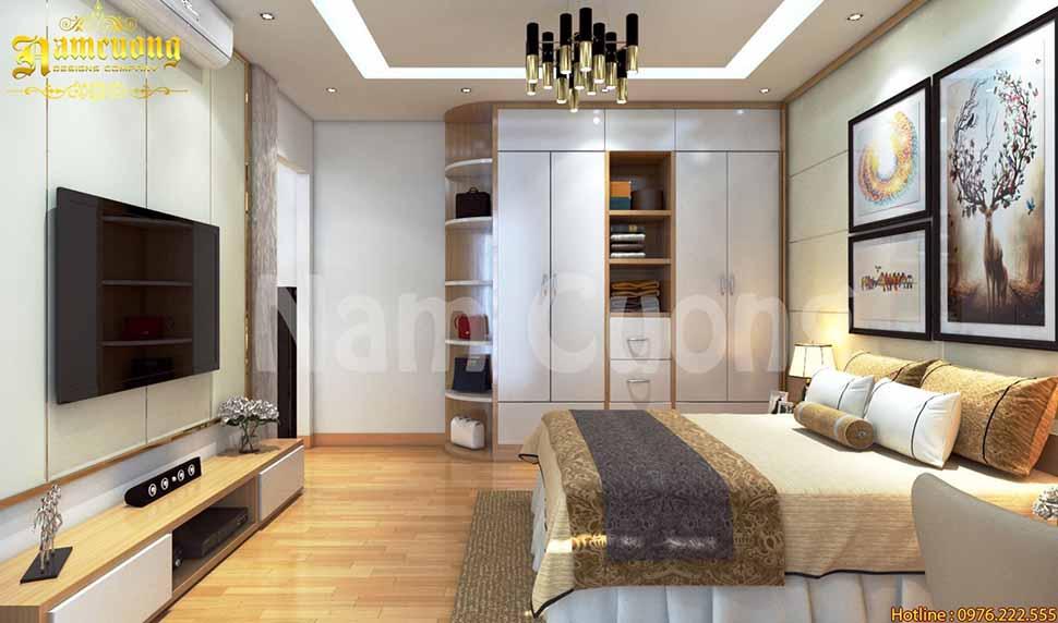 nội thất phòng ngủ nhà ống mái bằng